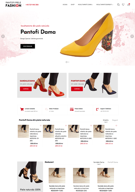 Pantofi Piele Fashion